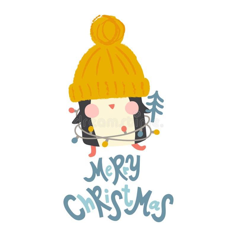 Pinguim do Natal ilustração do vetor