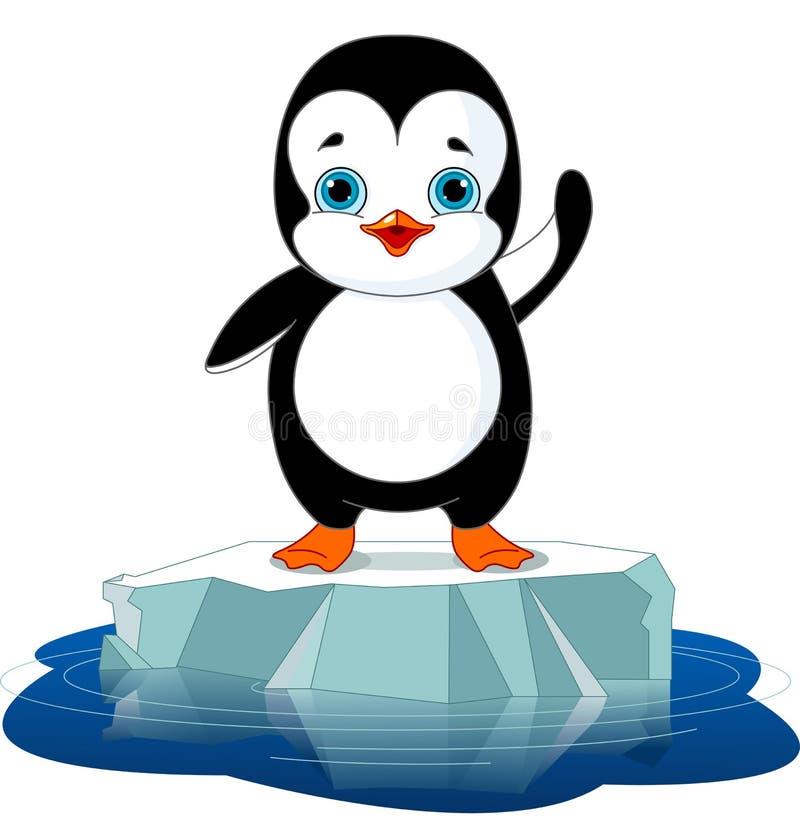 Pinguim no gelo ilustração do vetor