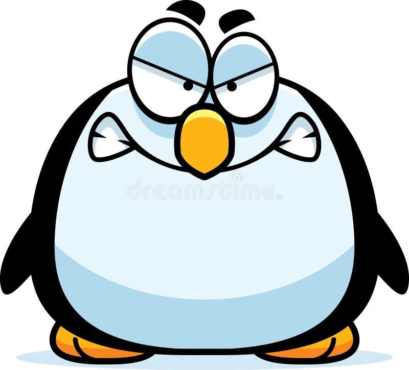 Pinguim pequeno irritado ilustração stock