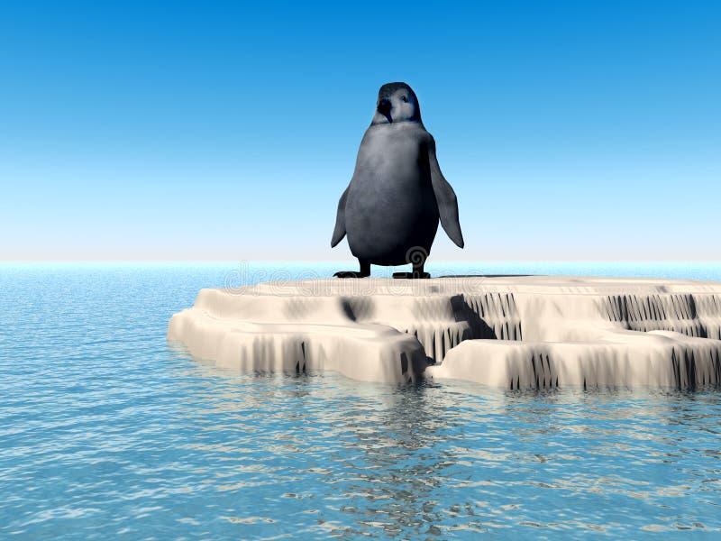 Pinguim perdido pequeno 7 ilustração stock