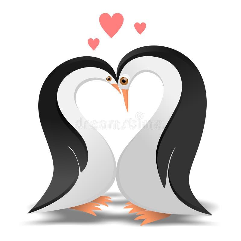 Pinguine in der Liebe lizenzfreie abbildung