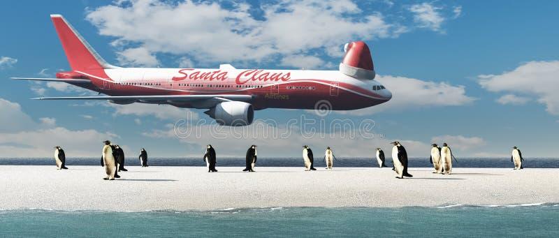 pinguini che escono da un igloo royalty illustrazione gratis
