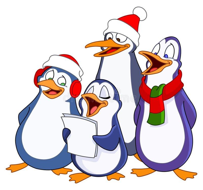 Pinguini di Caroling royalty illustrazione gratis