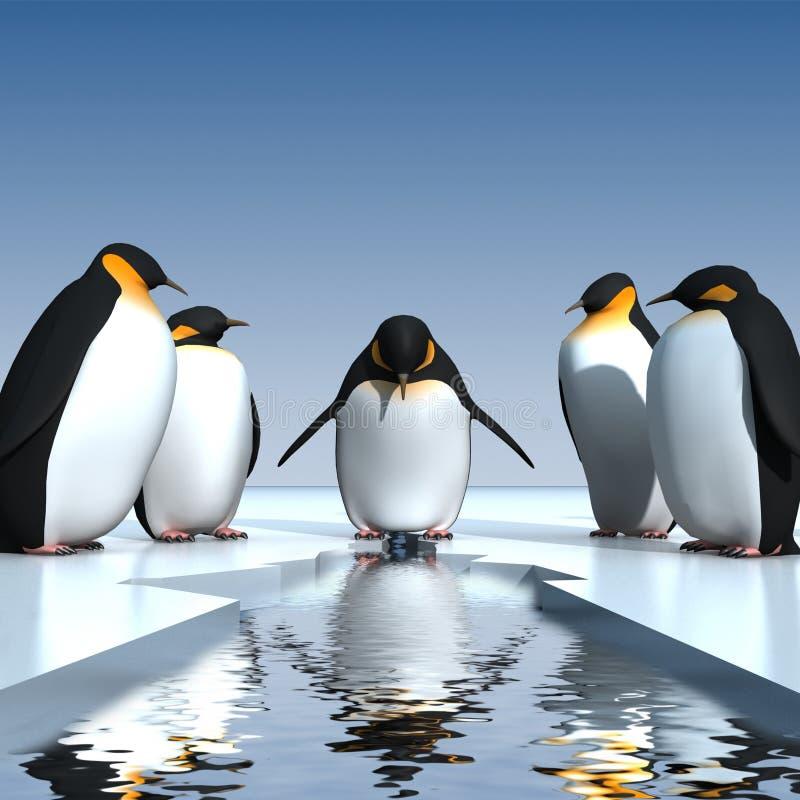 Pinguini di divertimento royalty illustrazione gratis