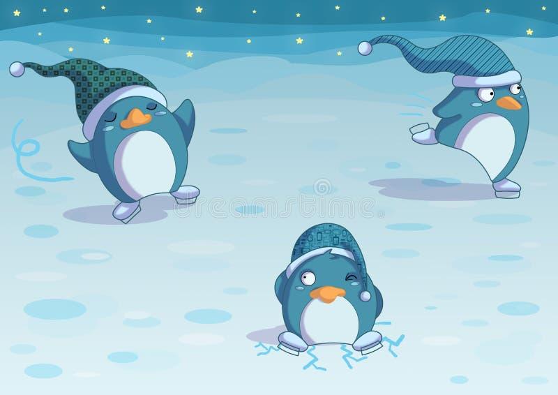 Pinguini Su Ghiaccio Fotografie Stock Libere da Diritti