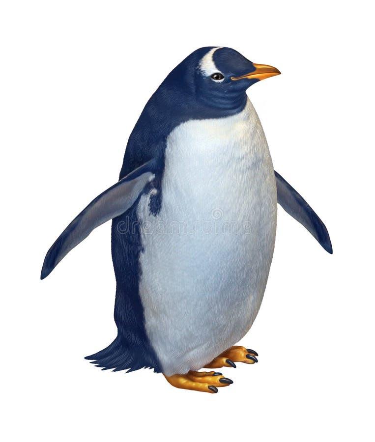 Pinguino isolato illustrazione di stock