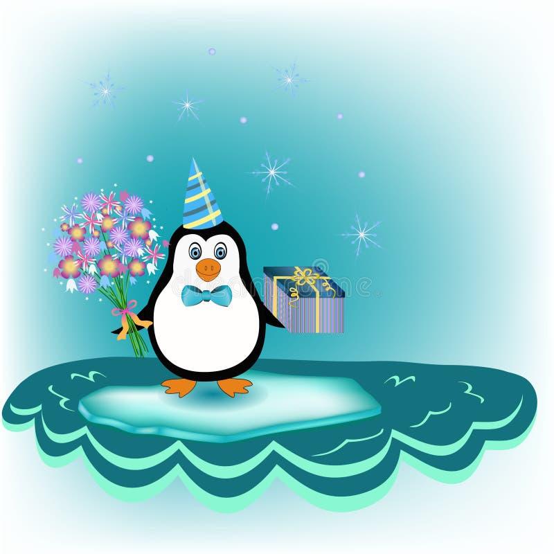 Pinguino sopra l'iceberg illustrazione vettoriale