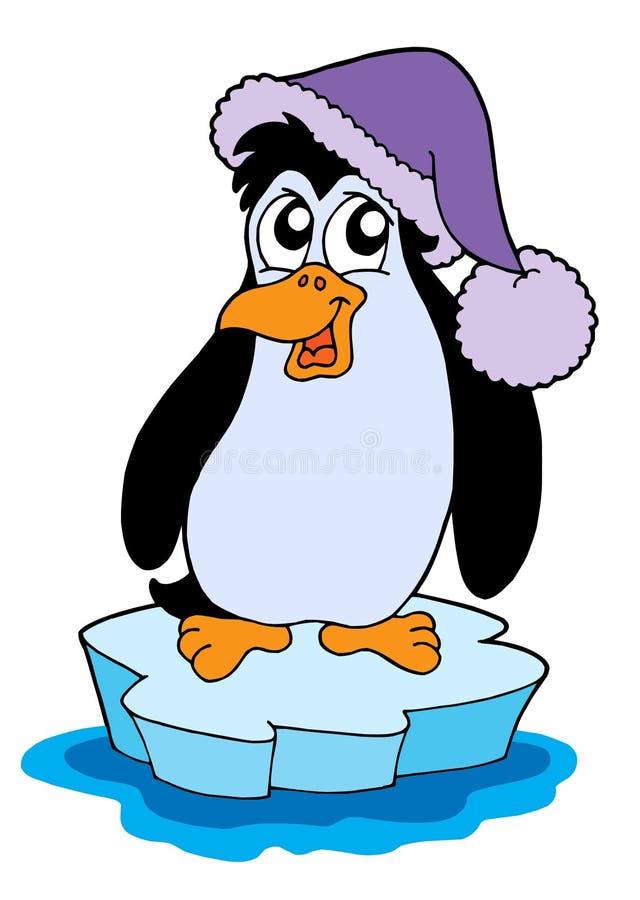 Pinguino sull'illustrazione di vettore dell'iceberg royalty illustrazione gratis