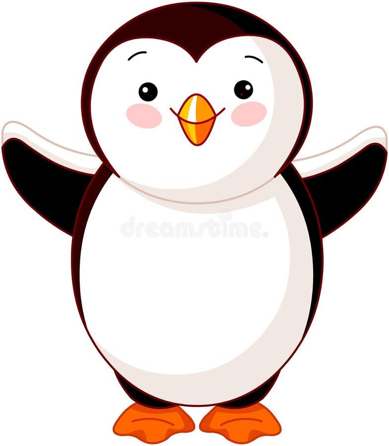 Pinguino sveglio del bambino illustrazione di stock