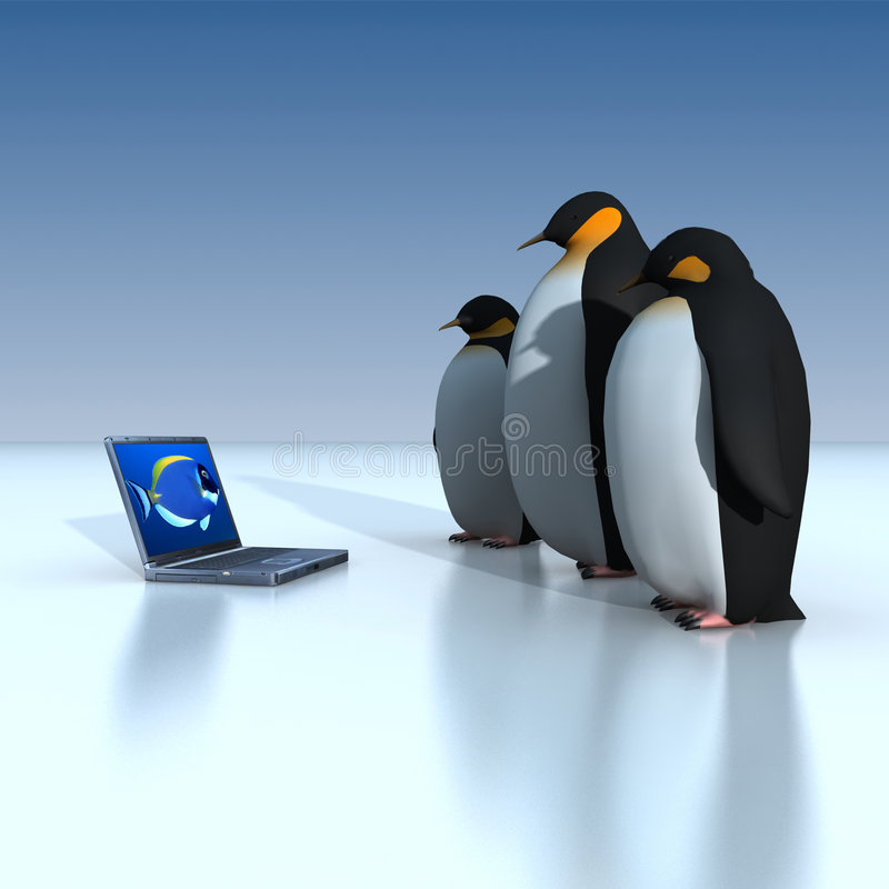 Pinguins ilustração stock