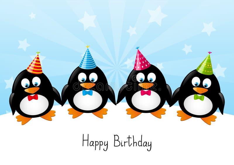 Pinguins engraçados ilustração do vetor