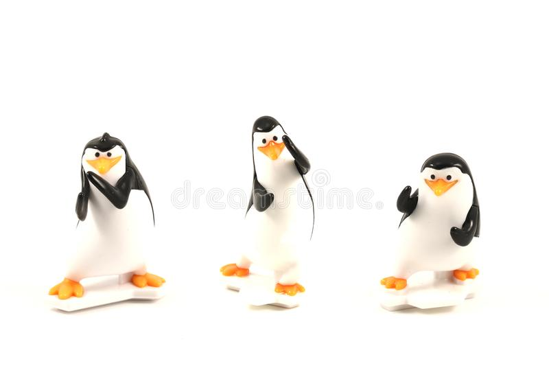 Pinguinspielzeug, Form Pinguine des Madagaskar-Animationsfilmes stockfotografie