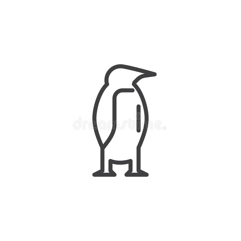 Pinguintierlinie Ikone vektor abbildung