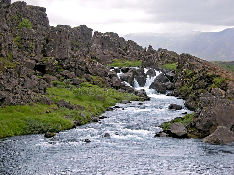 pingvellir национального парка Исландии стоковая фотография