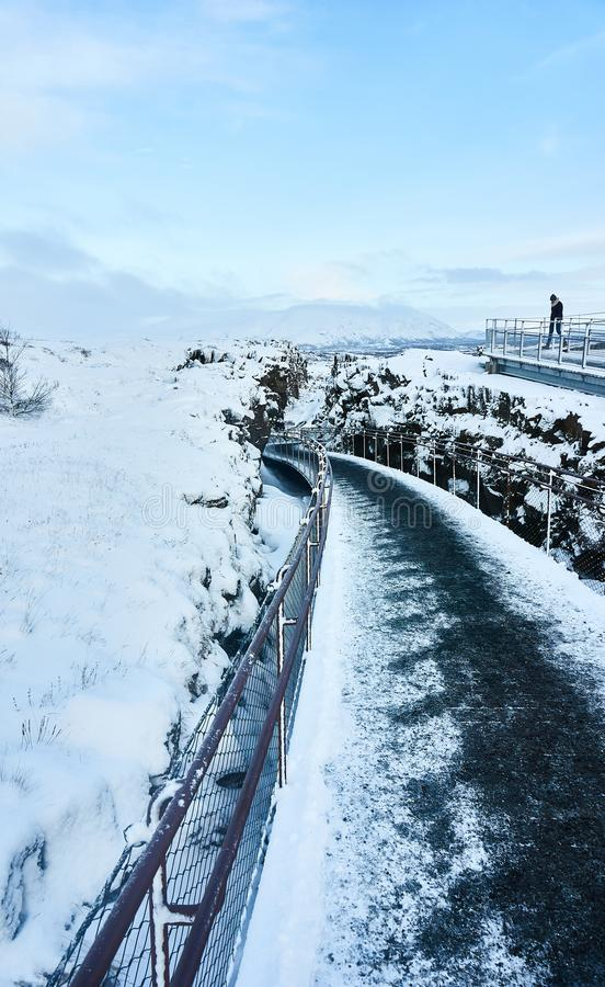 Pingvellir самый старый национальный парк в Исландии стоковые изображения