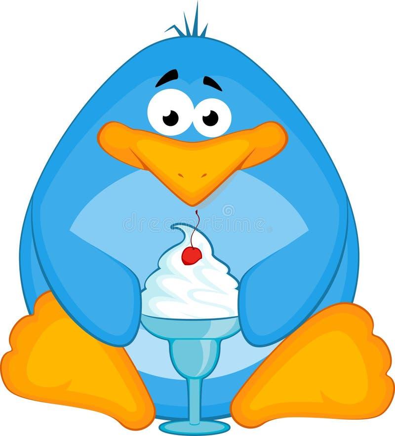 pingvin för kräm- is för tecknad film liten royaltyfri illustrationer