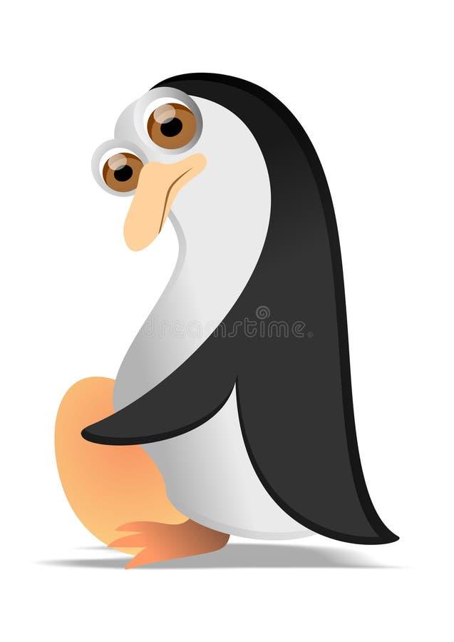 Pingvin med ägget royaltyfri illustrationer