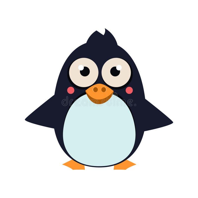 Pingvinanseende på is Vektor Illustartion royaltyfri illustrationer
