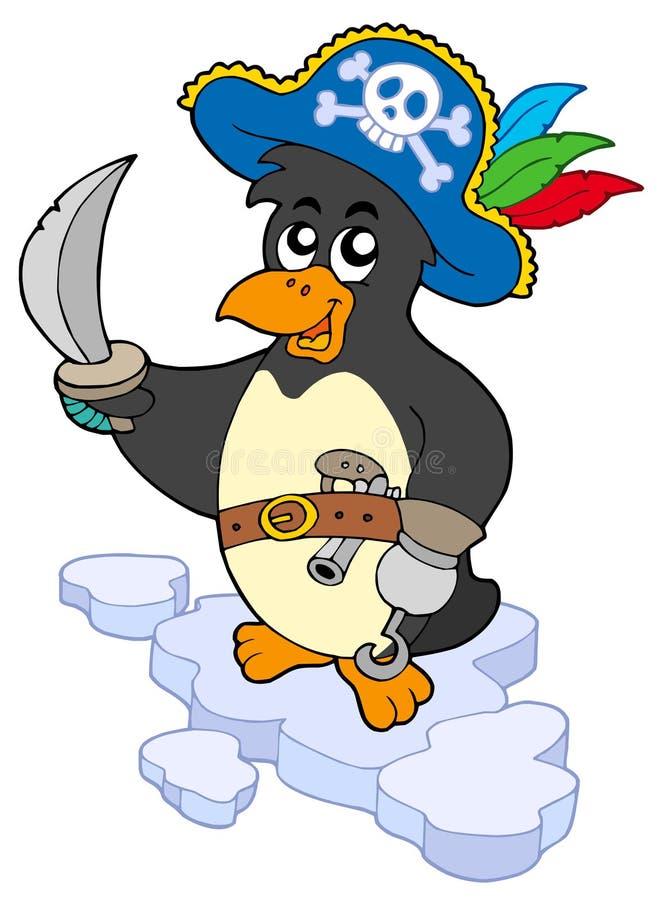 pingvinet piratkopierar royaltyfri illustrationer