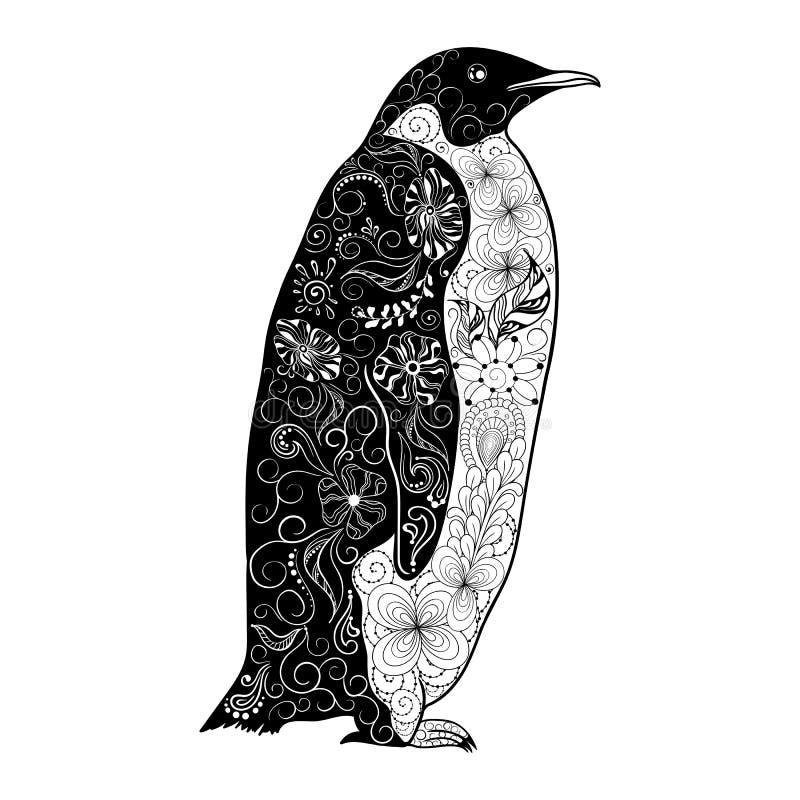 Pingvinklotter vektor illustrationer