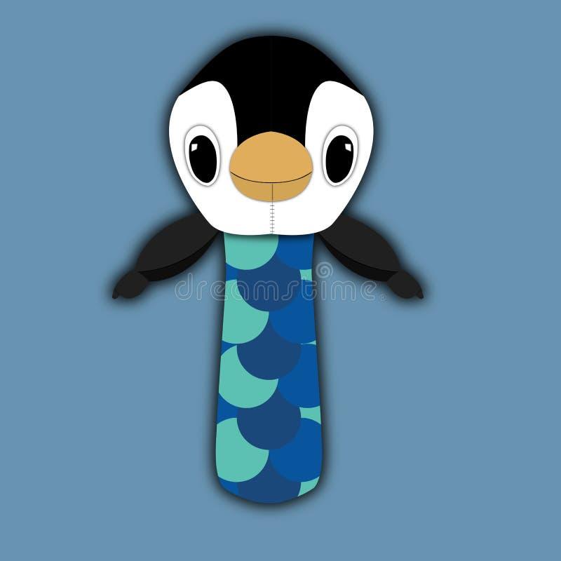 Pingvinleksak royaltyfria foton
