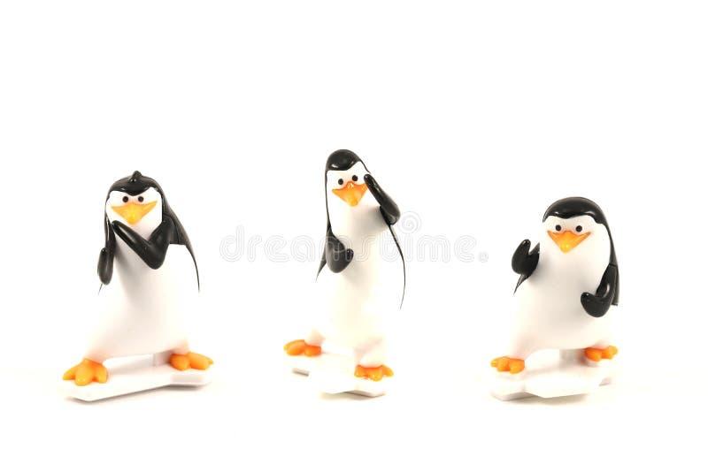 Pingvinleksak, formpingvin av den Madagascar animeringfilmen arkivbild