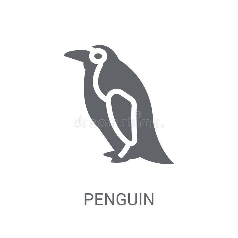 Pingvinsymbol  stock illustrationer