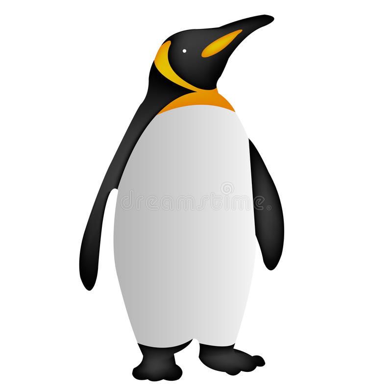 Pingvinsymbol, pingvinsymbol eps10, pingvinsymbolsvektor stock illustrationer