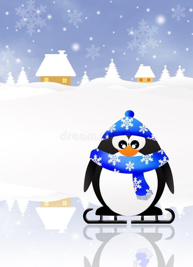 Pingvintecknad film stock illustrationer
