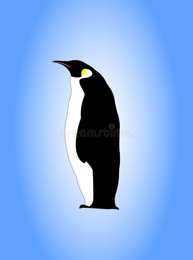 pingwin imperatora. royalty ilustracja