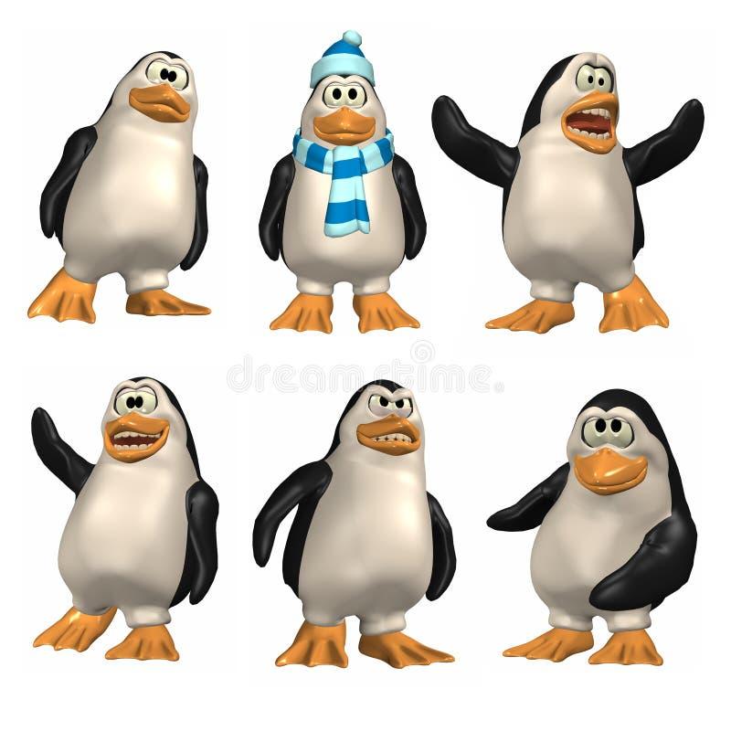 pingwin komiks. ilustracja wektor