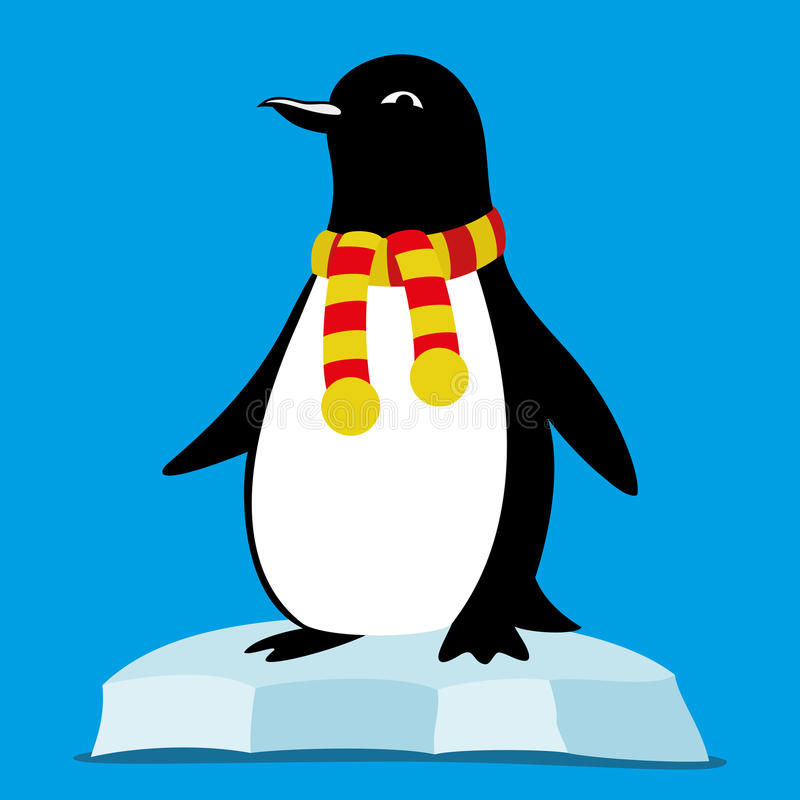 Pingwin na lodowym floe royalty ilustracja