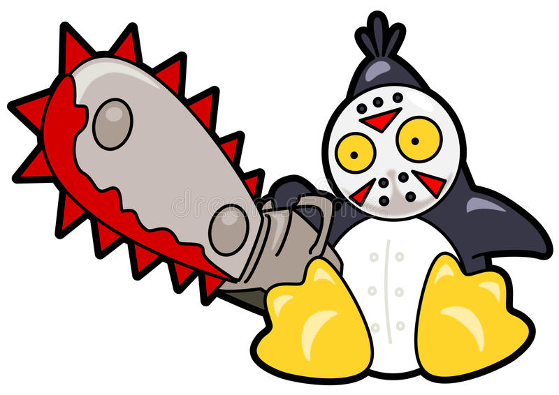 pingwin straszny royalty ilustracja