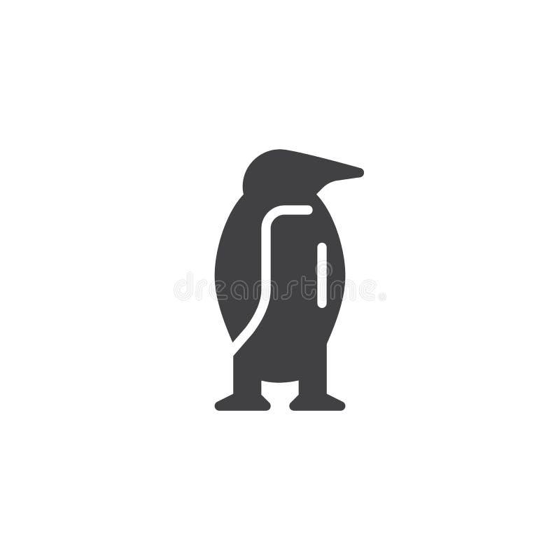 Pingwin zwierzęca wektorowa ikona ilustracja wektor