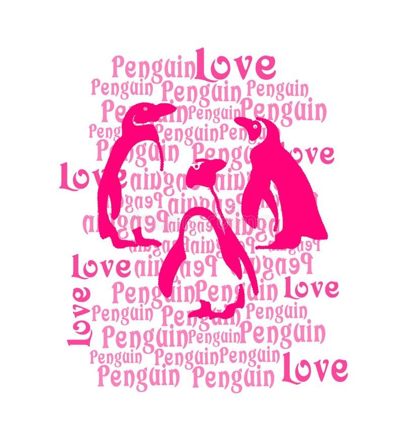 Pingwinu druk, dzieciak koszulki druk royalty ilustracja