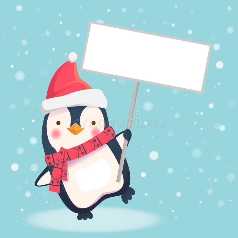 Pingwinu mienia znak ilustracji