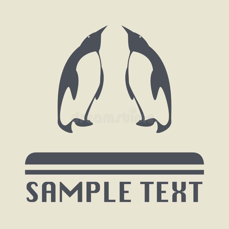 Pingwinu znak lub ikona royalty ilustracja