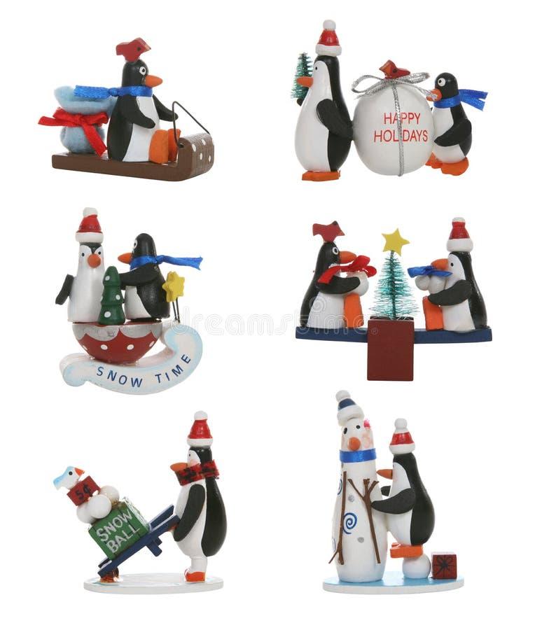 pingwiny świąteczne obraz stock