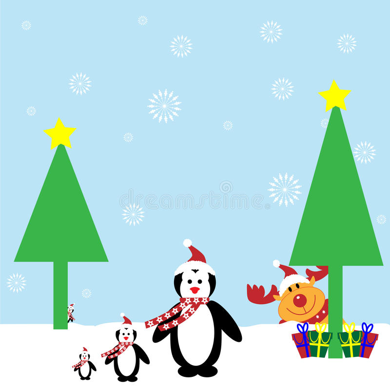 pingwiny ilustracji