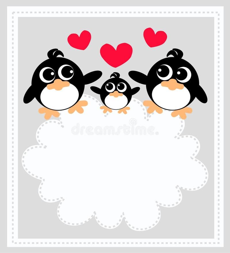 pingwiny ilustracja wektor