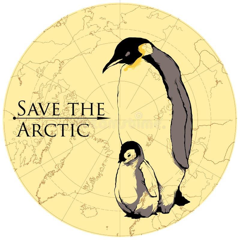 Pingwiny dziecko i rodzic zdjęcia royalty free
