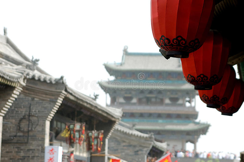 Download Pingyao stock photo. Image of crafts, buildings, folkway - 12649846