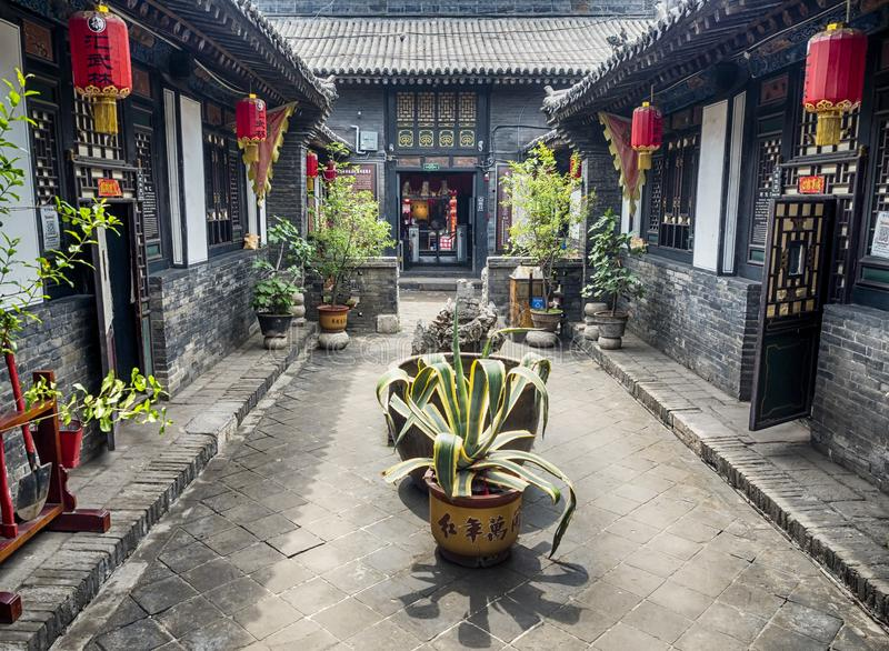Pingyao Ancient City architecture and ornaments, Shanxi, China.  royalty free stock images