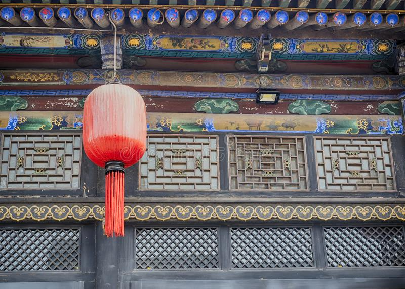 Pingyao Ancient City architecture and ornaments, Shanxi, China.  stock images