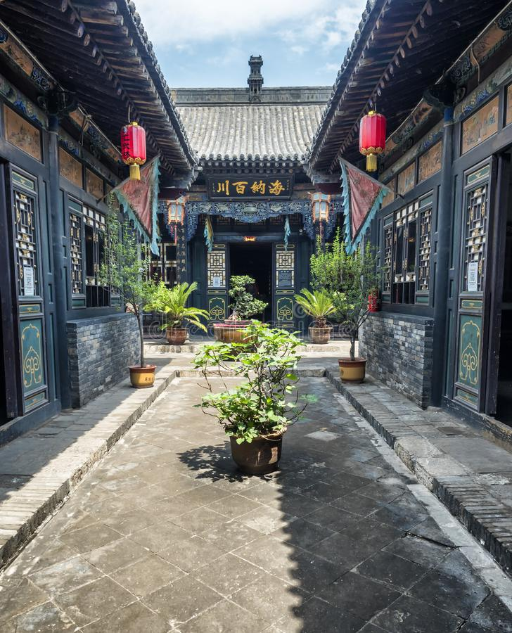 Pingyao Ancient City architecture and ornaments, Shanxi, China.  royalty free stock photography