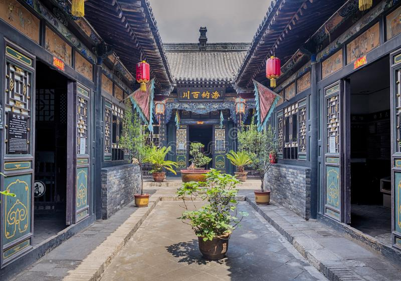 Pingyao Ancient City architecture and ornaments, Shanxi, China.  stock photography