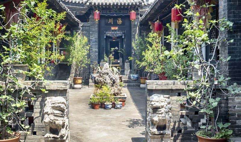 Pingyao Antycznego miasta architektura i ornamenty, Shanxi, Chiny obraz stock