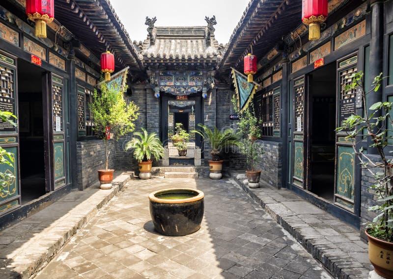 Pingyao Antycznego miasta architektura i ornamenty, Shanxi, Chiny zdjęcia royalty free