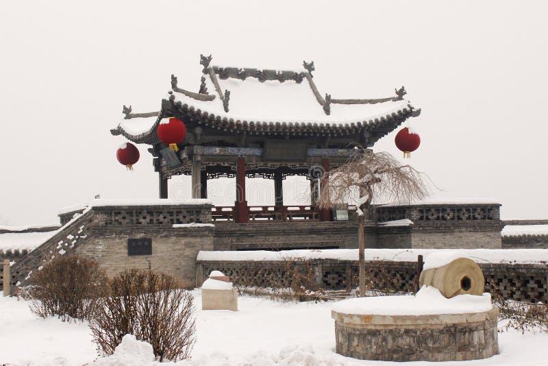 Pingyao Antyczny miasto w zimie zdjęcie royalty free