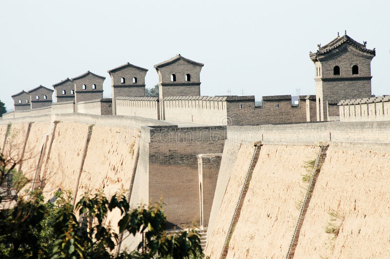 pingyao mur miasta obraz royalty free